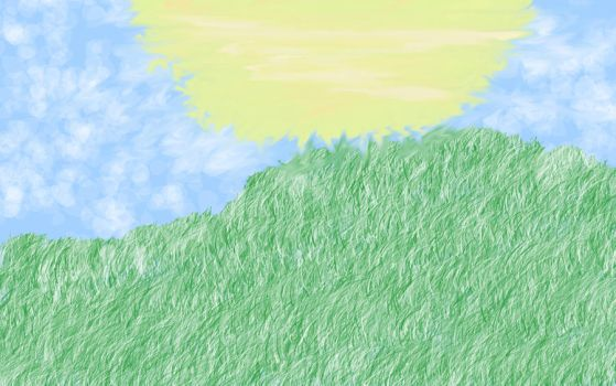Grass field by babibanana123