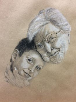 Portrait of my Mormor and cousin by weblore