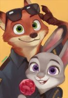 Nick and Judy by commanderdelta2468