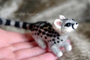 Needle felted Genet by SaniAmaniCrafts