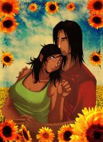 Sunflower love by RHEMORA