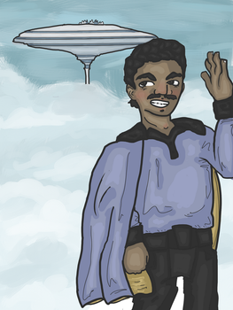 Lando in the Clouds by pinkublu