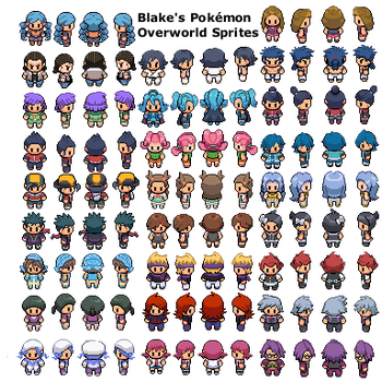 Pokemon Overworld Sprites by bws2cool