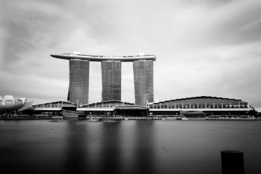 Marina Bay long exposure by amiyain