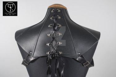 Leather Neck Corset by TheIronRing