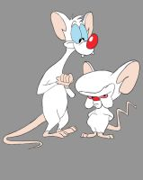 Pinky And The Brain Daily sketch #691 by GothicVampireFreak