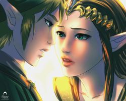 Legend of Zelda: Link and Zelda by nime080