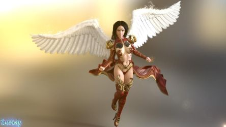 Paladriel (Angel of the flames) by surody