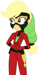 EQG - Applejack as Mistress Marevelous by REMcMaximus