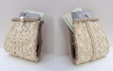 Lace and Satin Clutch Purse by VictorianRedRose