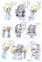 Little comic with Yui, Elena and Lloyd XD--Request by AnaNini
