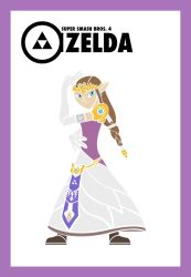 Smash Vectors: Zelda (color) by TriforceJ