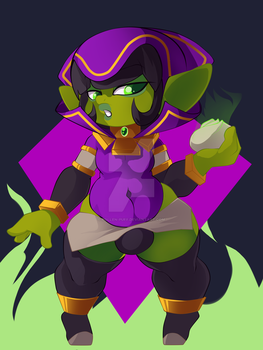Pippers (Goblin Warlock) by Lavender-Doll