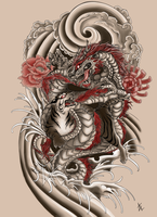 Japanese Tattoo Commission by Beautiful-Beasties