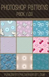 Photoshop Patterns - Pack 03 by punksafetypin