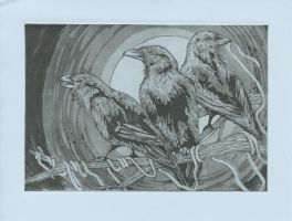 The Three Ravens by Henri-Pants