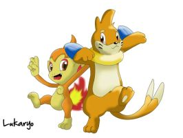 Chimchar and Buizel