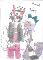Aamon and Ayane (Ship Trade) by Darkness-Serum