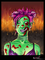 Lifeless Flare-Up - Zombieater by Hex36