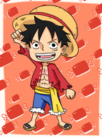 Monkey D. Luffy Chibi: New World by Laloineee