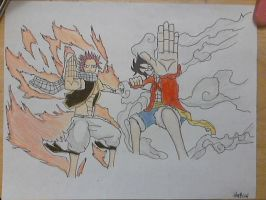 Natsu and luffy by thaisoul