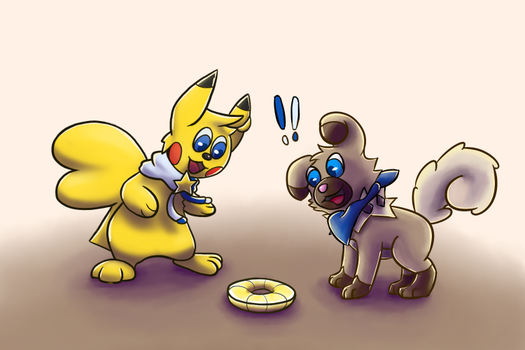 Mochi and Hoshi collab with Major by PhoenixFire-Art