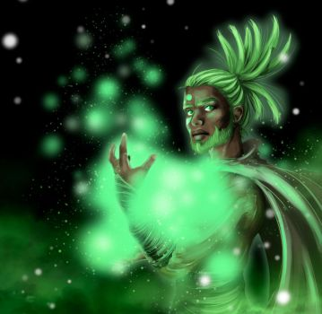 Green Glance -- The Glow by ArhyaM