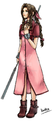 Dissidia: Aerith Gainsborough by benteja