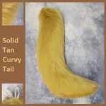 Solid Tan Curvy Tail by Lascivus-Lutra