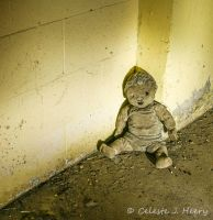 Abandoned Mental Asylum, Creepy Doll by cjheery