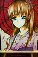Anime Girl in Kimono by Sophie--Chan