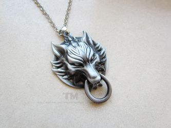 Fenrir - Final Fantasy VII Inspired Necklace by thingamajik