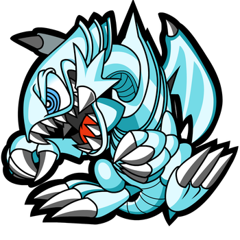Blue-Eyes Toon Dragon (Sexy Vector) by KingToby19