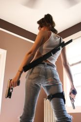 Shelly Zombie Hunter Stock 8 by KINGZOMBIE-STOCK