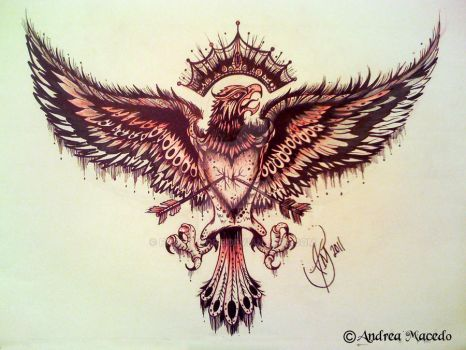 Commission-Eagle tattoo by PrettyGore