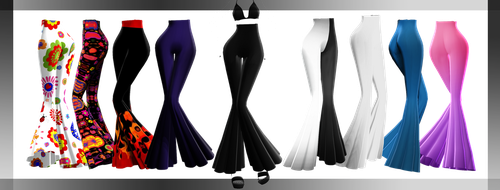 MMD DL : Bell bottoms pants DOWNLOAD by HoshichoM
