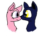 Nose Boop! - Shadow and Ashley as Wolves by OcelotKinz