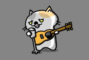 guitarist cat by kusaman