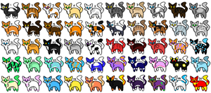 50 Cat Adoptables Free for watchers! Open 22 left! by Sylvewolf13