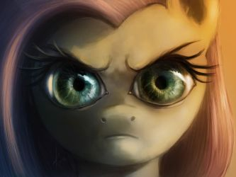 The Stare (colored) by RaikohIllust