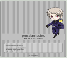 Journal skin: Prussian V2 by Ashley44598X