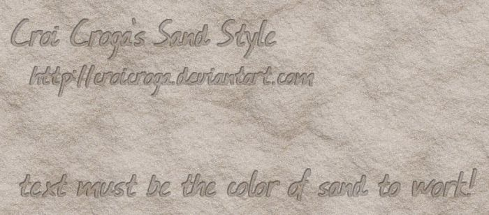 Croi's Free Sand Style for Photoshop - 2 by croicroga