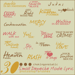 depeche mode lyric brushes 3 by chokingonstatic