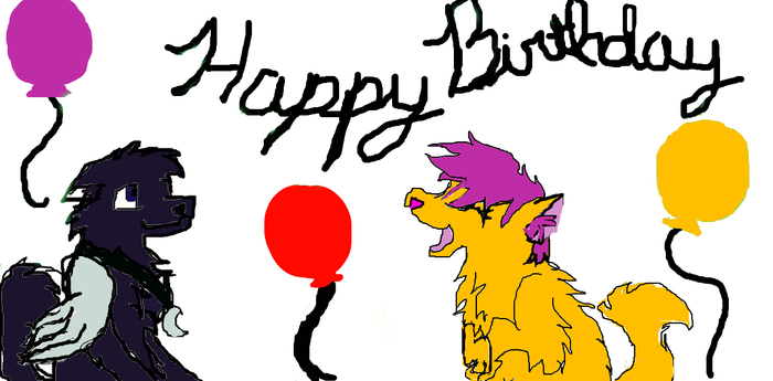 Laughing Friends :3 B-day Gift For a Raylouwolf by ajepic