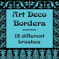 Art Deco borders by rL-Brushes