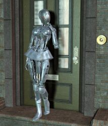 The Robot And The Doorbell by silverexpress