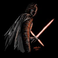 Kylo The Last Jedi by MartyRossArts
