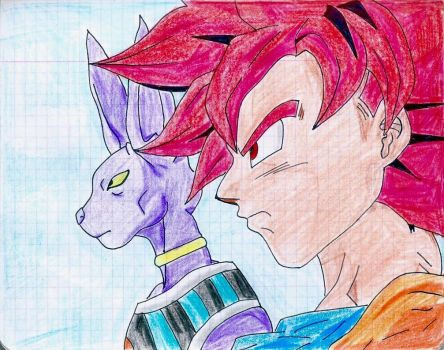 Lord Beerus and Goku #dragonballsuper [9 August] # by ankschoubey