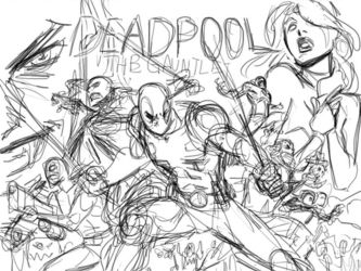 Deadpool process animated by ReillyBrown