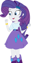 Vector - Happy Rarity by SketchMCreations